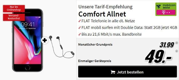 iPhone 8 + mobilcom-debitel Telekom Comfort Allnet