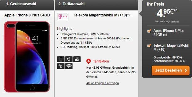 iPhone 8 Plus + Telekom Magenta Mobil M