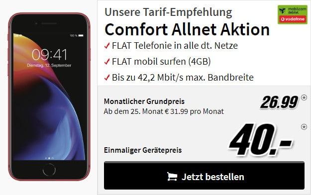 iphone 8 + vodafone comfort allnet md