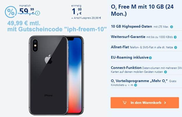 iPhone X + o2 Free M