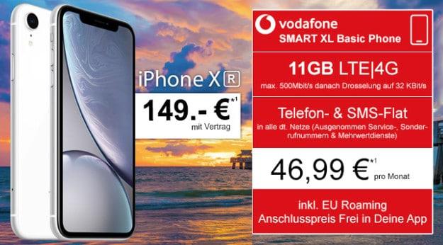 iPhone Xr + Vodafone Smart XL