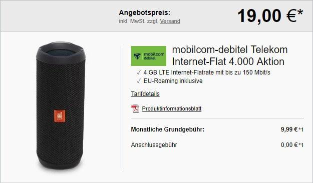 Internet-Flat 4.000 (md) im Telekom-Netz mit 4 GB LTE