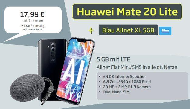 Huawei Mate 20 lite + Huawei SoundStone CM51 + Blau XL bei Curved