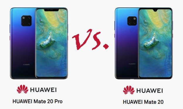 Huawei Mate 20 versus Mate 20 Pro - Vergleich, kaufen
