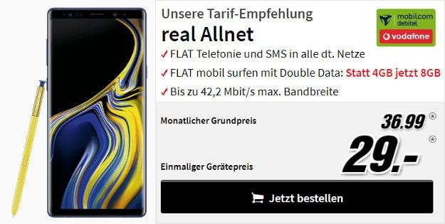 Galaxy Note 9 + real Allnet Vodafone (md)