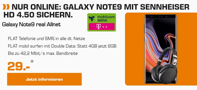 Note 9 Telekom Real Allnet