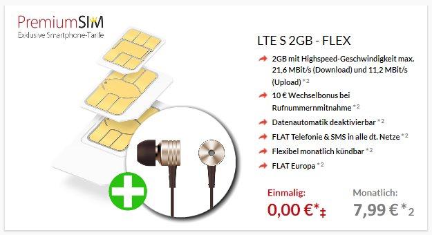 PremiumSIM LTE S + 1More Piston Kopfhörer bei Preisboerse24