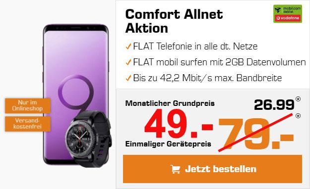 Galaxy S9 Plus mit Vodafone Comfort Allnet