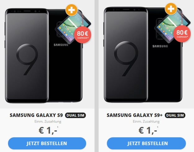 Galaxy S9 oder S9 Plus + Tablet + Telekom Magenta Mobil M