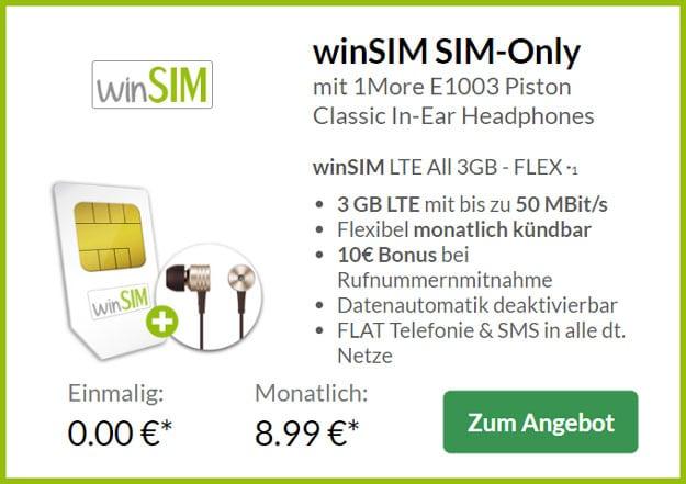 winsim Allnet-Flat 3 GB LTE