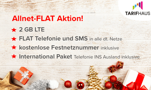Tarifhaus Handyhase-Spezial: Allnet-Flat mit 2 GB LTE rechnerisch kostenlos dank bis zu 120 € Auszahlung