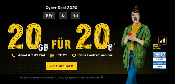 congstar Cyber Deal 2020