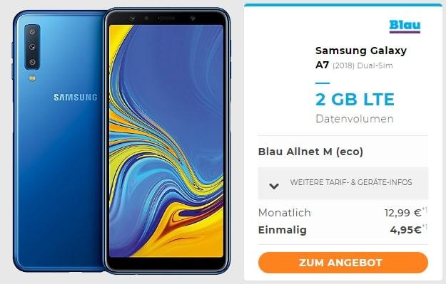 Samsung Galaxy A7 (2018) + Blau M bei Handyflash