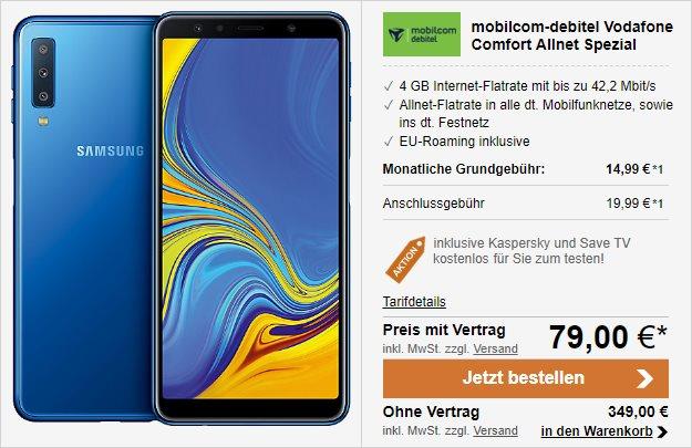 Samsung Galaxy A7 (2918) + Vodafone Comfort Allnet (mobilcom-debitel) bei LogiTel