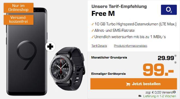 Samsung Galaxy S9 + Samsung Gear S3 Frontier + o2 Free M bei Saturn