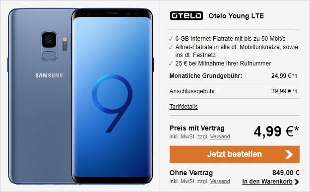 Samsung Galaxy S9 + otelo Allnet-Flat Classic LTE bei LogiTel