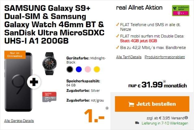 Samsung Galaxy S9 Plus + real Allnet (md) im Telekom-Netz