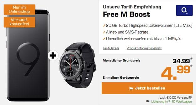 Samsung Galaxy S9 Plus + Samsung Gear S3 Frontier + o2 Free M Boost bei Saturn