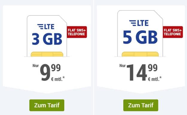 1&1 GMX.de All-Net ab 9,99 € Grundgebühr  (Allnet-Flat & SMS-Flat, bis 5 GB LTE, o2/Vodafone)