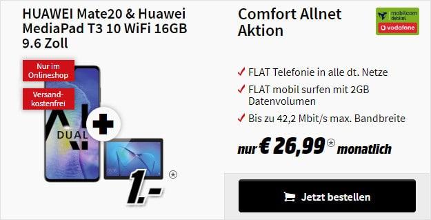Huawei Mate 20 + Mediapad T3 + Vodafone Comfort Allnet (md)