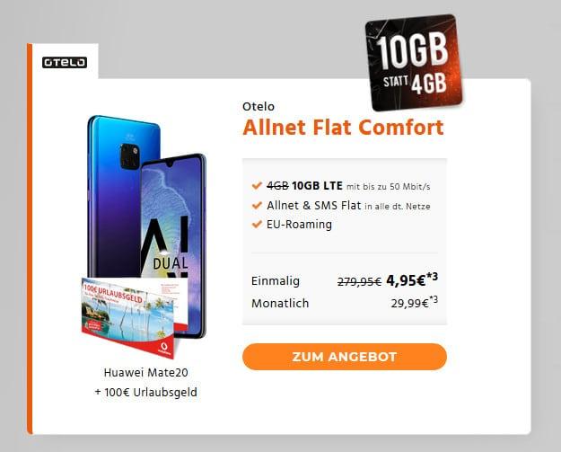 Huawei Mate 20 + otelo Allnet-Flat Comfort LTE