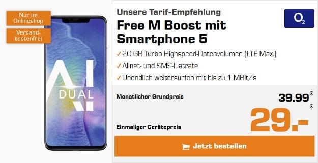 Huawei Mate 20 Pro + o2 Free M Boost