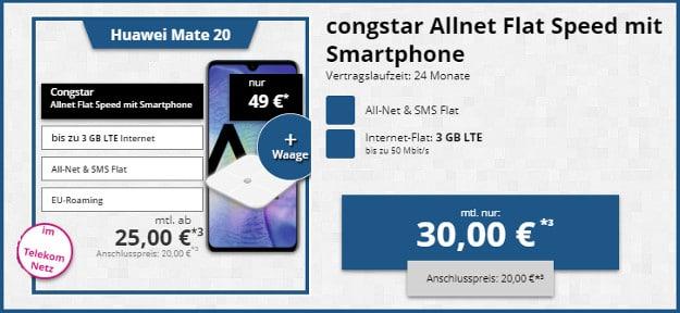 Huawei Mate 20 + congstar Allnet-Flat