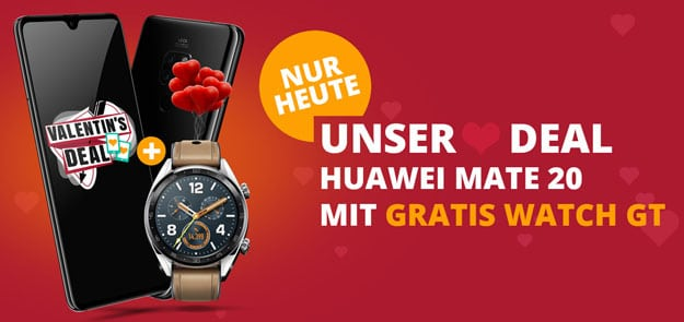 Huawei Mate 20 + Huawei Watch GT Classic + otelo Allnet-Flat Comfort LTE bei Sparhandy