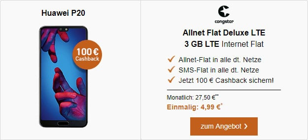 Huawei P20 + congstar Allnet Flat LTE