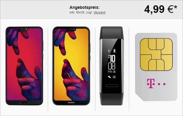 Huawei P20 Pro + Huawei P20 lite + Band 3e + Telekom Magenta Mobil M