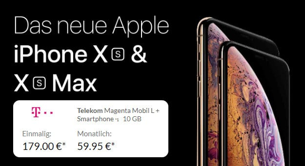 Apple iPhone Xs Max mit Telekom Magenta Mobil L