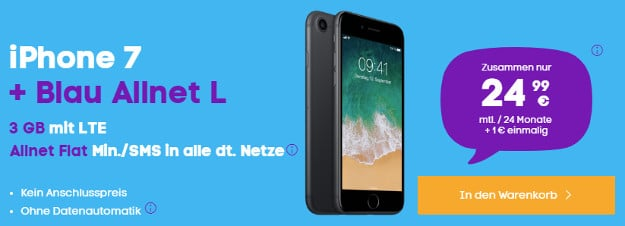 iphone 7 32gb blau allnet l