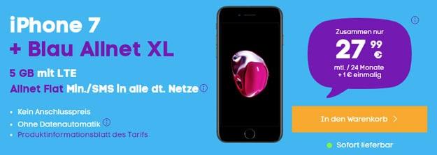 iPhone 7 + Blau Allnet XL bei Blau