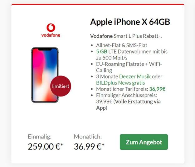 iPhone X + Vodafone Smart L Plus