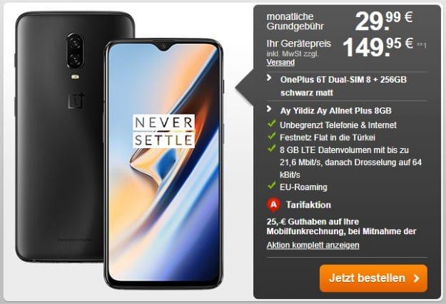 OnePlus 6T + Ay YIldiz Ay Allnet Plus bei Handyflash