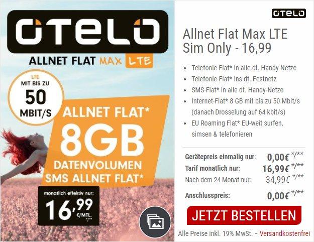 otelo Allnet-Flat Max LTE bei CepNet