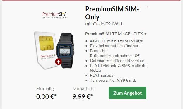 premiumsim lte + casio