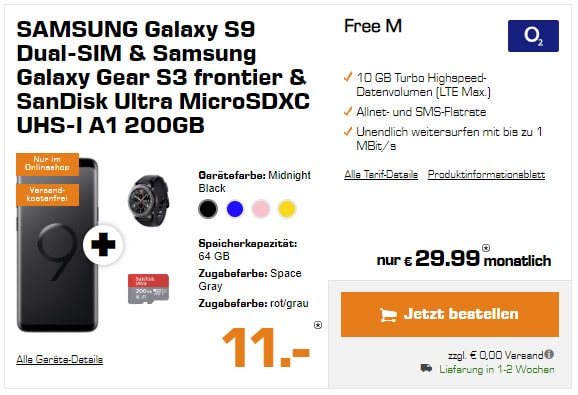 Galaxy S9 + o2 Free M / M Young