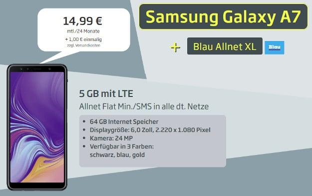 Samsung Galaxy A7 (2018) + Blau Allnet XL