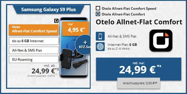 samsung galaxy s9 plus + otelo allnet flat comfort