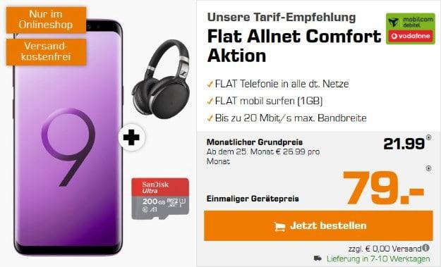S9 Plus + Sennheiser-Headset + microSD + Vodafone Comfort Allnet (md)