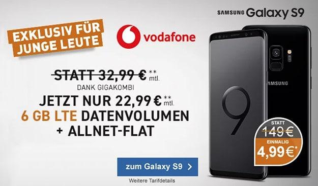 Samsung Galaxy S9 / S9 Plus + Vodafone Young M / M GigaKombi
