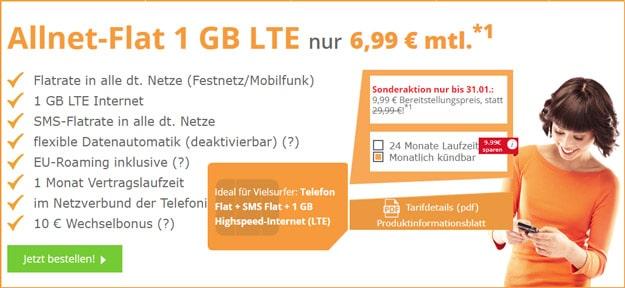 SimDiscount Allnet-Flat LTE