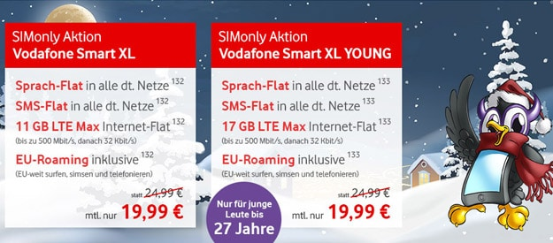 Vodafone Smart XL / XL Young (SIM-only) bei FLYmobile