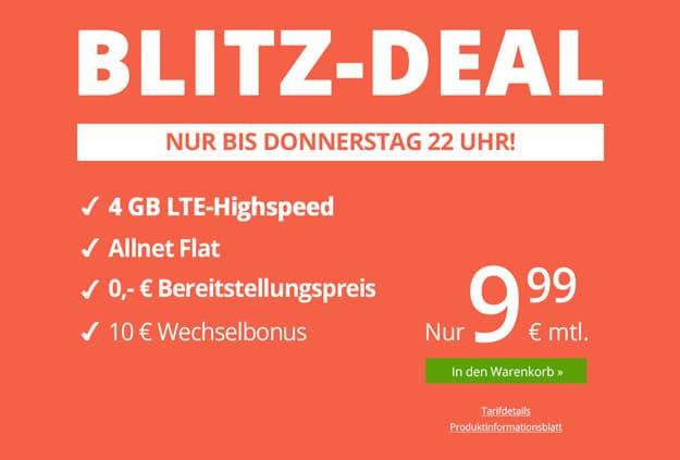 Preissturz! winSIM LTE All mit 3 GB LTE für 7,99 € mtl. (Allnet- & SMS-Flat, auch bis zu 10 GB LTE, o2) monatlich kündbar!