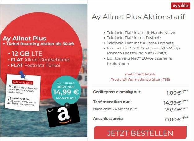 Ay Yildiz Ay Allnet Plus bei CepNet