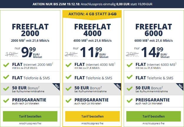 freeflat ohne anschlusspreis
