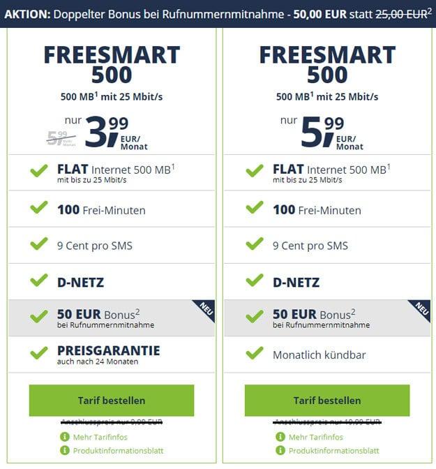 freesmart 500 ohne anschlusspreis