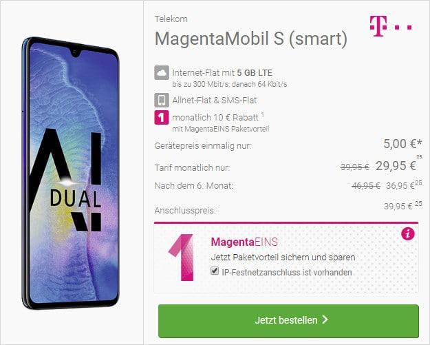 huawei mate 20 + telekom magenta mobil s