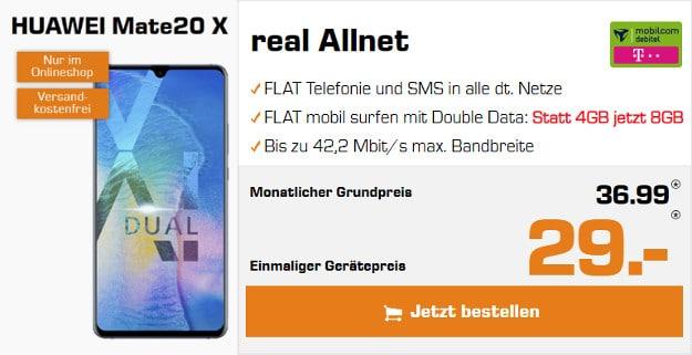 Huawei Mate 20 X + mobilcom-debitel Telekom real Allnet